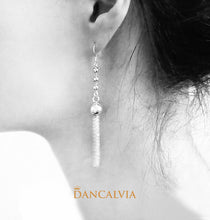 Load image into Gallery viewer, 925 Sterling Silver Tassel Earring