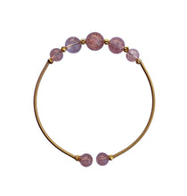 Load image into Gallery viewer, Flexible Strawberry Beaded Bangle