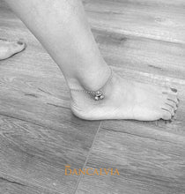Load image into Gallery viewer, 925 Sterling Silver Anklet With Two Bells
