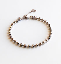 将图片加载到图库查看器,Women's 925 Sterling Silver Diamond Cut Bead Chain Bracelet