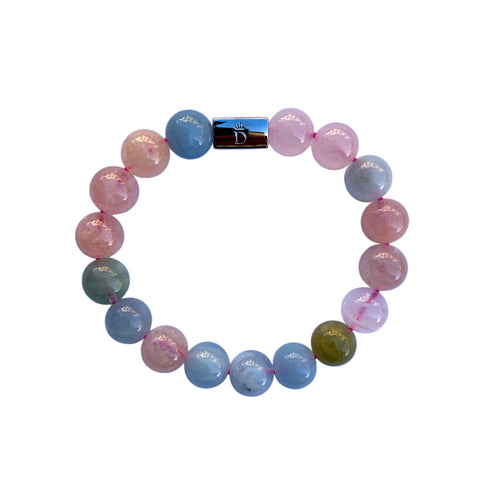 Women's Morganite Beaded Stretch Bracelet