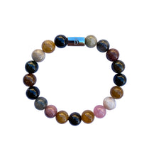 Load image into Gallery viewer, Women's Tourmaline Beaded Stretch Bracelet
