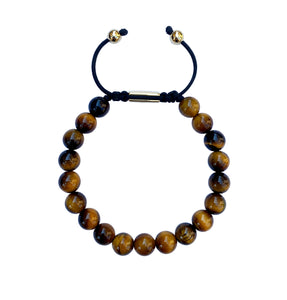 Yellow Tiger Eye Adjustable Bracelet