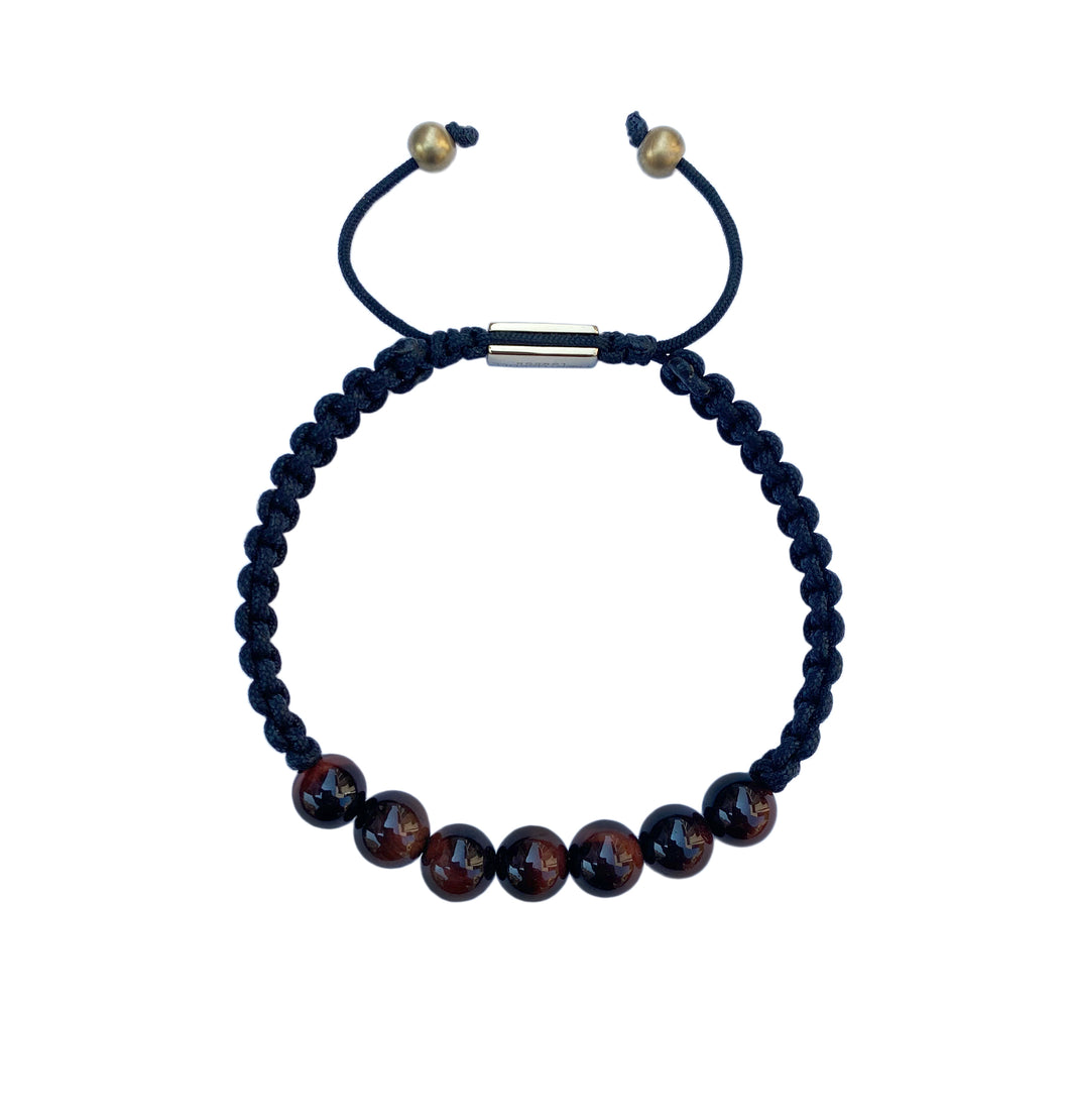 Red Tiger Eye Bead Bracelet