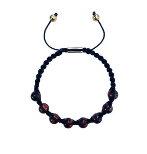 Red Tiger Eye Macrame Bracelet