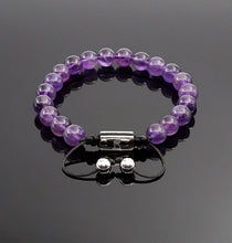 Load image into Gallery viewer, Women's Amethyst Handmade Beaded Bracelet Adjustable Gemstone Bracelets