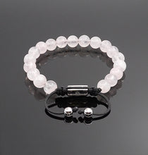 Load image into Gallery viewer, Womens Rose Quartz handmade Adjustable bracelet