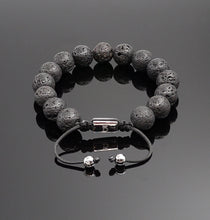 Load image into Gallery viewer, Men's Lava Rock Bracelet Stress Relief Adjustable Bracelet