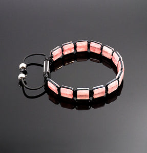 Womens Strawberry Quartz Bracelet Handmade Bracelet Natural Stone Adjustable Bracelet