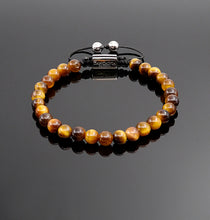 Load image into Gallery viewer, Unisex Yellow Tiger Eye Beaded Bracelet Handmade Bracelet