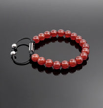Load image into Gallery viewer, Women's Red Onyx Handmade Bracelet Gemstone Lucky Bracelet