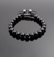 Load image into Gallery viewer, Unisex Obsidian Beaded Bracelet Natural Gemstone Protection Stone Handmade Bracelet