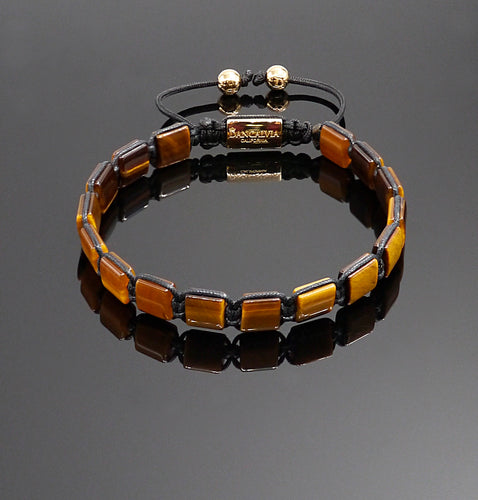 Unisex Yellow Tiger Eye Bracelet Gemstone Adjustable Bracelet