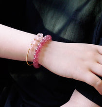 将图片加载到图库查看器,Women's Strawberry Quartz Beaded Stretch Bracelet