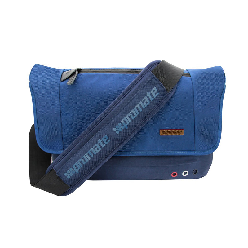 "Premium Lightweight Messenger Bag for Laptops up to 15.6"" with Multiple Pocket Options"