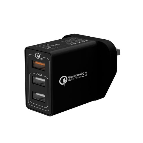 30W Quick Charge QC 3.0 Wall Charger with 3 USB Ports
