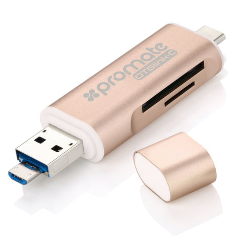 3-in-1 USB Type-C OTG Card Reader for Smartphone, Tablets & Computers