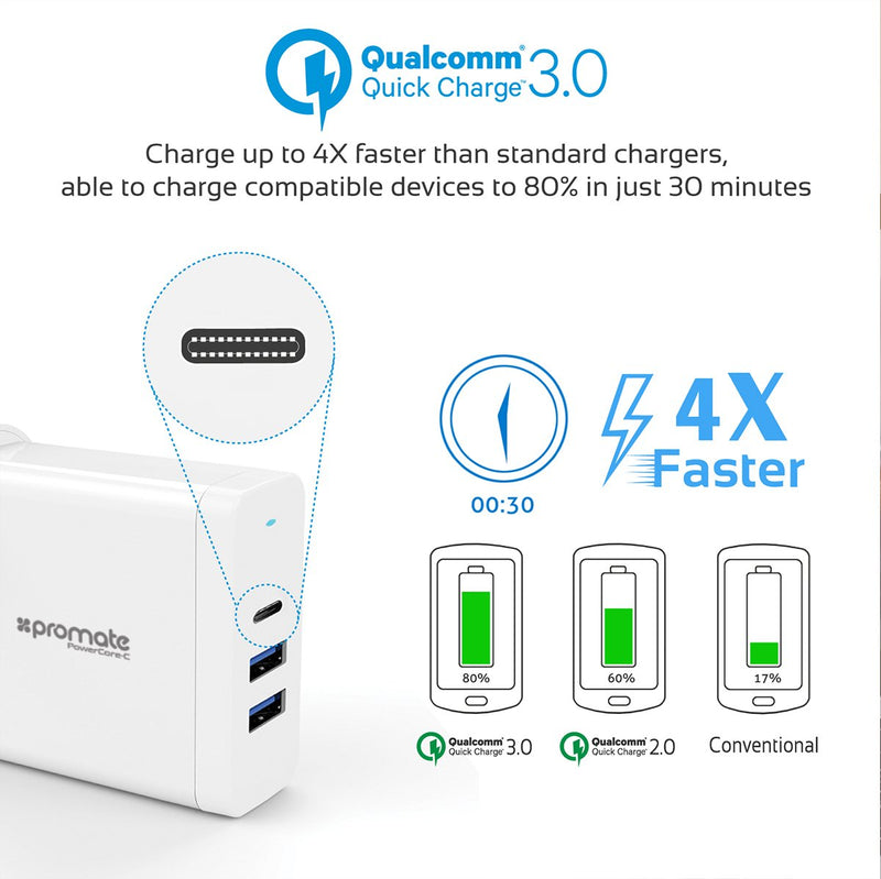 60W Multi-Regional Plug USB-C Wall Adapter with Power Delivery