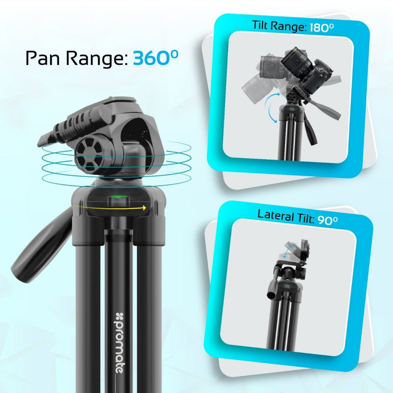 3 Sections Aluminium Alloy Tripod with Quick-Release Plate