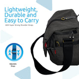 Contemporary DSLR Camera Bag with Adjustable Storage, Water-Resistant Cover and Shoulder Strap