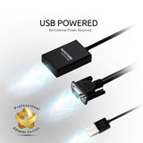 VGA-to-HDMI Adaptor Kit with Audio Support