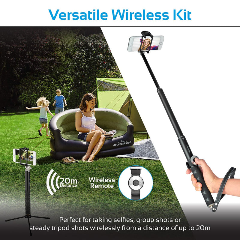 5-in-1 Universal Wireless Selfie Kit with Extendable Monopod