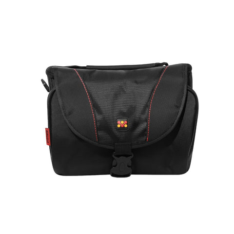 Compact Camera / Camcorder case with Front Storage, Side Mesh Pocket and Shoulder Strap.