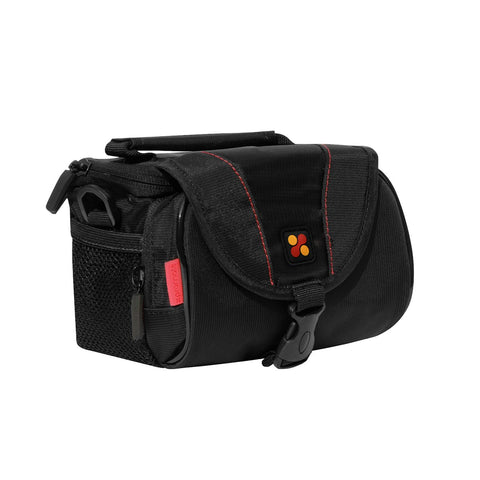 Compact Camera Case with Front Storage, Side Mesh Pocket and Shoulder Strap