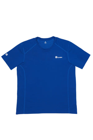 Krotan Genesis short sleeve blue athletic shirt for men