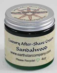 Luxury Organic After Shave Cream Sandalwood