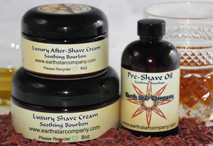 Soothing Sandalwood Bourbon Shave Set