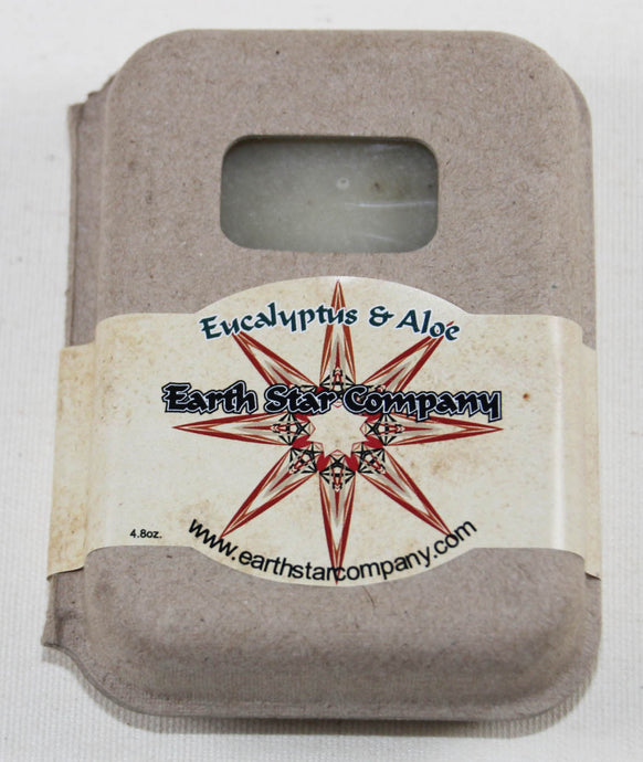 Eucalyptus & Aloe Cold Process Soap Bar in Recycled Packaging