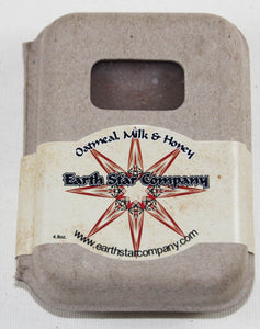 Oatmeal Milk and Honey Cold Processed Soap in Recycled Packaging