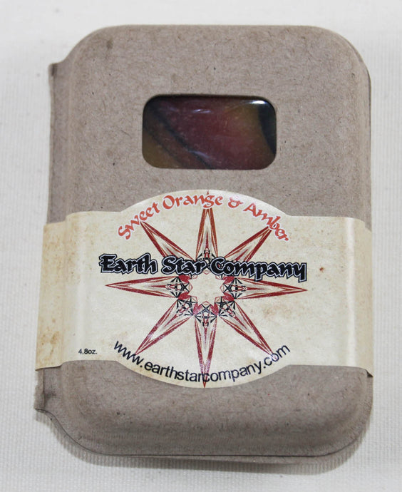 Sweet Orange & Amber Cold Process Soap Bar in Recycled Packaging