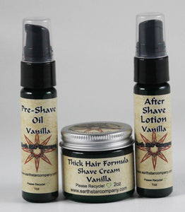 3 piece Thick Hair Formula Travel Shave Kit