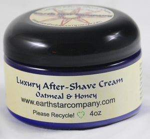 Luxury Organic After Shave Cream Oatmeal and Honey
