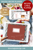 My Recipes and Menu | Simple Digital Planner