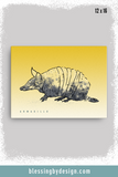 Texas Critters Armadillo | 12x16 Canvas Print