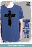 Blessed Is The Man | Men's Triblend Shirt