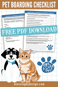 Pet Boarding Kennel Checklist | PDF Download