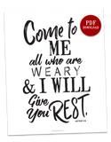 Give You Rest | 8x10 PDF Download