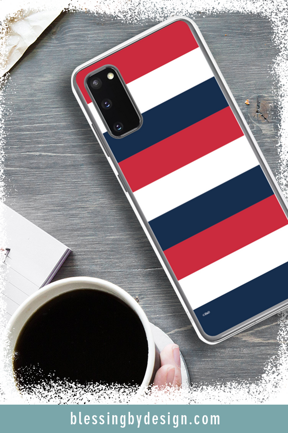 USA Red, White & Blue Stripes | Samsung Phone Case