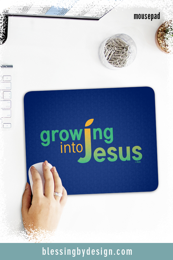 Growing into Jesus Solid | Mousepad