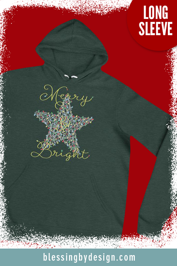 Merry & Bright Star String Art | Women's Hoodie