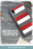 Ohio State Buckeyes Stripe - Sports Big 10 - iPhone Case