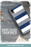 Penn State Nittany Lions Stripe - Sports Big 10 - iPhone Case