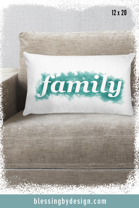 Family WORD | Rectangular Pillow