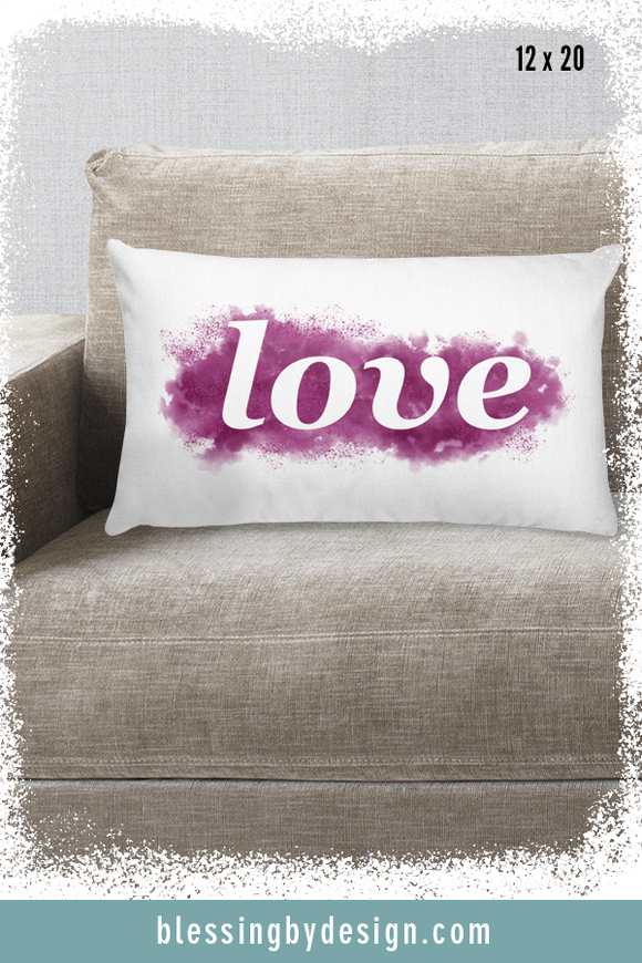 Love WORD | Rectangular Pillow