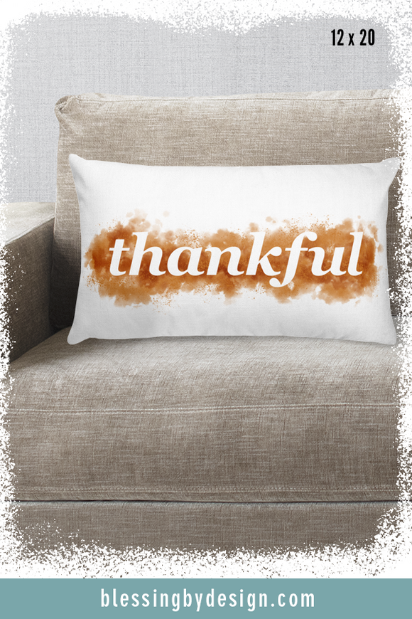Thankful WORD | Rectangular Pillow
