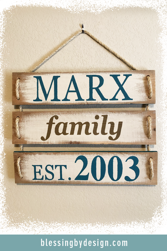 Family Established | Custom Design Sign